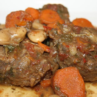 Stewed Oxtail With Butter Beans..