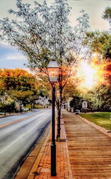 "People's Choice Award: Streets Boardwalks Gaslights and Sunset"" by Rick Sabbert. Photograph."