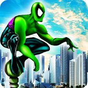 Power Amazing Frog Spider Rope Fight