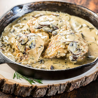 Life Changing Rosemary Mushroom Cream Sauce.