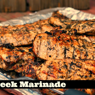 Greek Marinade for Chicken, Steak & Pork.