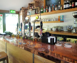 Photo: Here's the bar in the restaurant. The brewery's website has sample food menus.