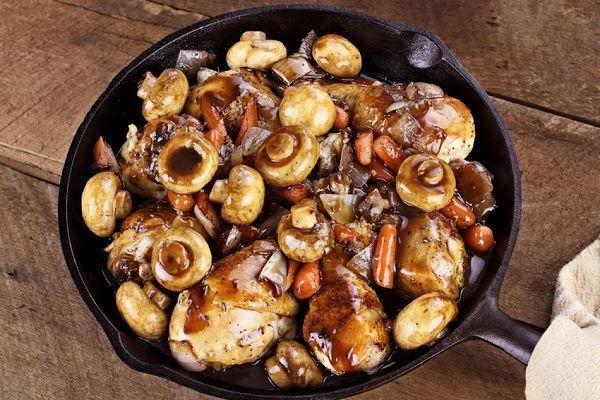 Vinegar-braised Chicken And Mushrooms Recipe