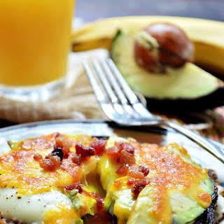 Egg, Cheese, and Avocado Stuffed Portabella Mushrooms.