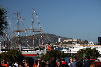 Photo: The crowds were there for Fleet Week. The ship Balclutha is all decked out