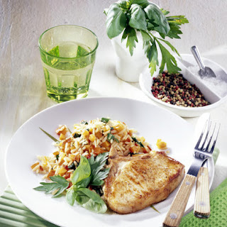 Pork Chops with Vegetable Risotto (Ideal for Diabetics) Recipe