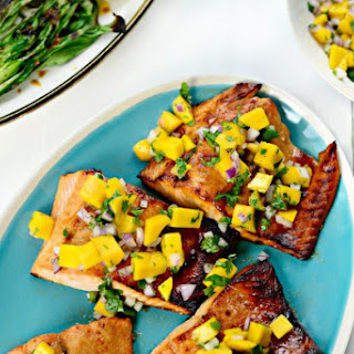 Honey Glazed Salmon + Fresh Mango Salsa