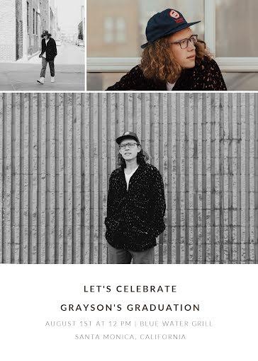 Grayson's Graduation Party - Graduation Announcement Template
