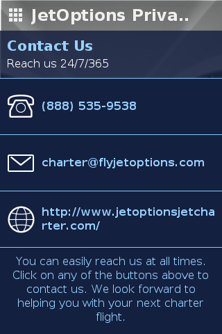 JetOptions Private Jets