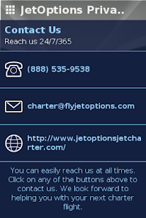 JetOptions Private Jets- screenshot thumbnail