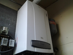 Photo: The First Boiler Installed in Breezy Point a few days after Sandy. We worked fast to help get everyone back in their Homes. Unfortunately it took the Gas Company 3 weeks later to get them gas..... so they were not able to use the boiler till then.