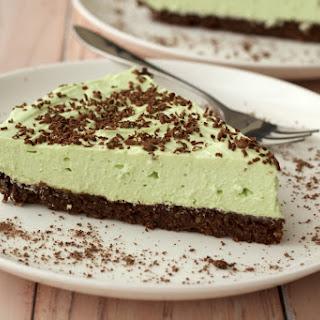Mint Cream Brownie Pie
