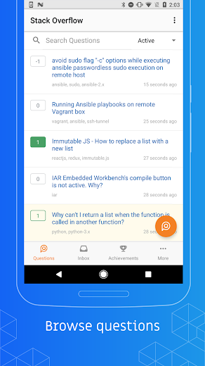 Screenshot 0 for Stack Overflow's Android app'