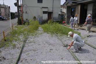 Photo: 【平成23年(2011) 太鼓開き】  7月1日。太鼓開きを迎え、厄病退散を願う道切りを設置。