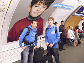 Photo: Stefan und Kai an der Metro