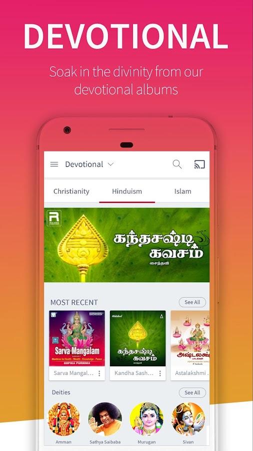 Raaga Hindi Tamil Telugu songs and podcasts - Android Apps