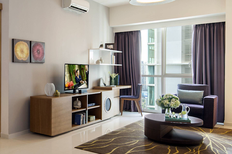Simplistic living area in Somerset Vista Ho Chi Minh City