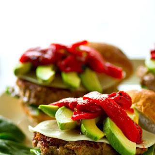 Roasted Red Pepper Avocado Chicken Burgers Recipe