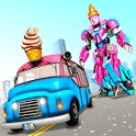 Ice Cream Robot Truck Game - Robot Transformation icon