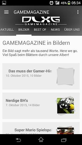 android GAMEMAGAZINE Screenshot 2