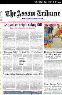 The Assam Tribune Newspaper - náhled