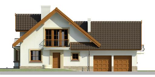 Dom przy Cyprysowej 15 - Elewacja przednia