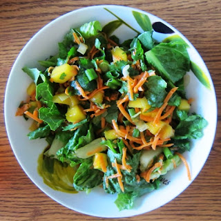 Thai Mango Salad Recipe With Carrots And Greens