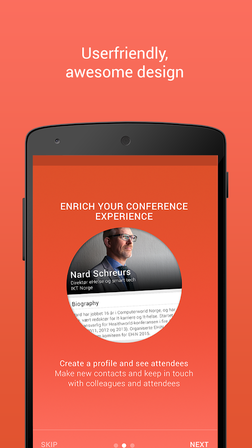 EHiN-FH conferenceapp- screenshot
