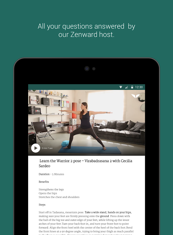 Zenward - Yoga for Everyone- screenshot