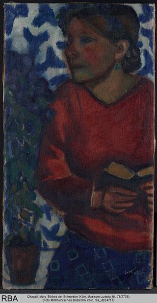 Марк Шагал. Портрет сестры.