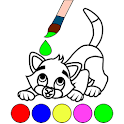 Animals Coloring Pages with stickers for kids icon