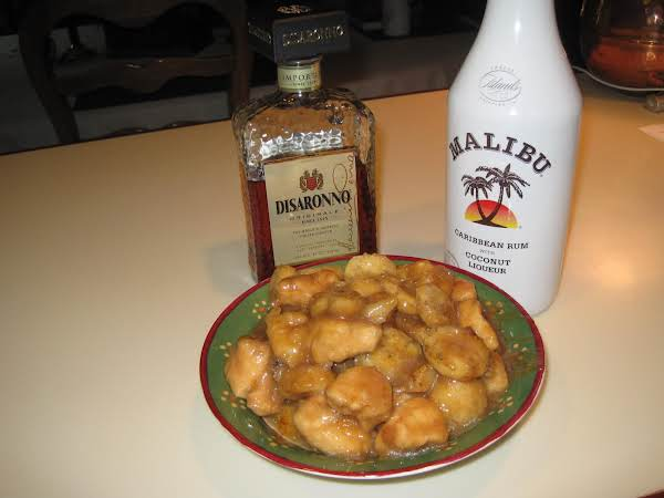 Chicken & Banana Foster With Amaretto & Malibu Rum Recipe