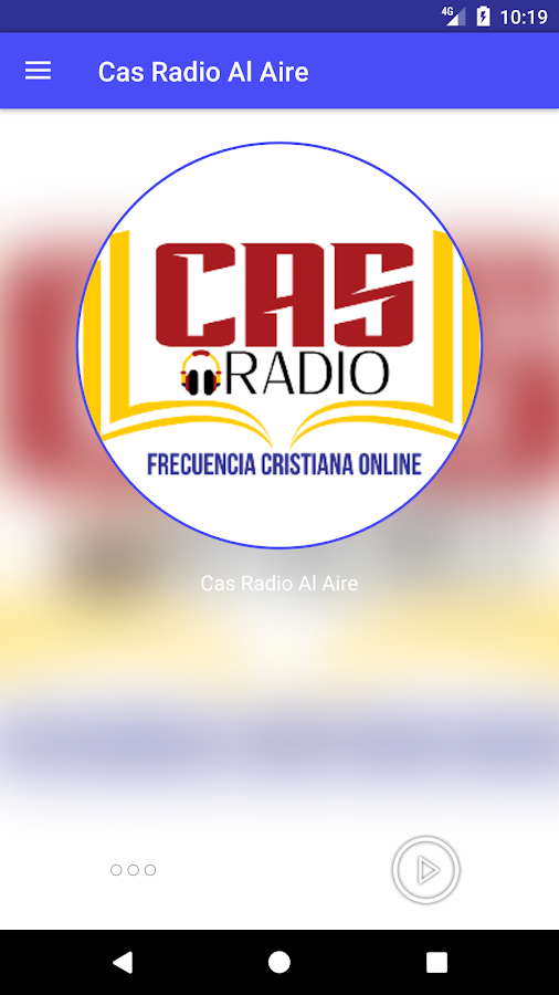 Cas Radio: captura de pantalla