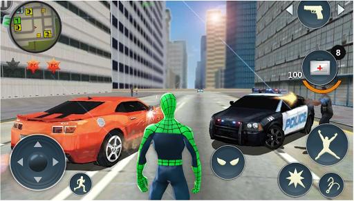Spider Rope Hero - Gangster Crime City  screenshots 6