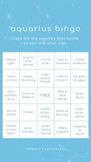 Aquarius Bingo - Instagram Story item