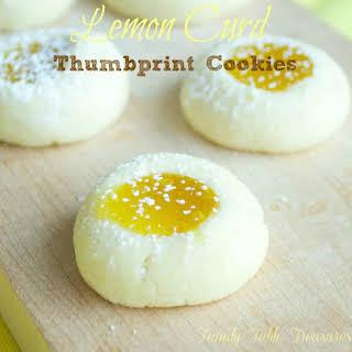 Lemon Curd Thumbprint Cookies.