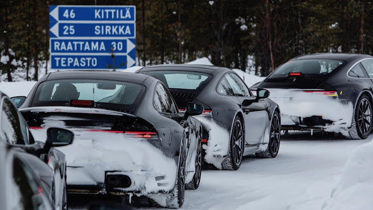 Camouflaged 911 prototypes caught cold weather testing in Finland