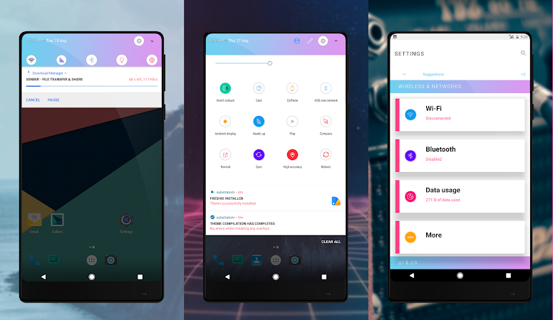 FreshUi Light Substratum Theme v1.0 [Patched]