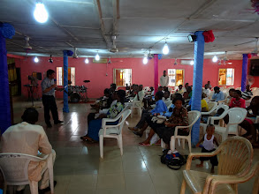 Photo: Pastor Richard Swartzentruber teaching at the pastoral conference.