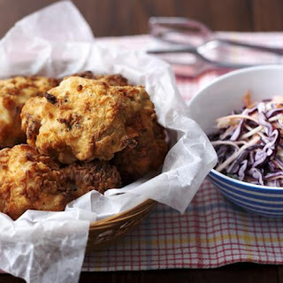Southern-fried Chicken And Coleslaw.