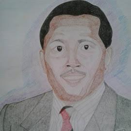 Chairman Kaberere by Reagan Muriuki - Drawing All Drawing