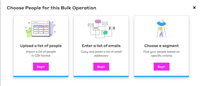 Create a bulk operation.