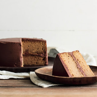 Peanut Butter Chocolate Frosted Cake