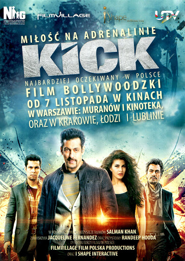 Przód ulotki filmu 'Kick'