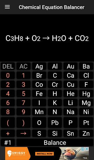 Chemistry Calculator - Chemical Equation Balancer 1.7 screenshots 2