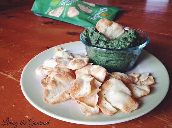 For The Dip:  10 Oz. Frozen Chopped Spinach – Thawed And Drained 29 Oz. Can Cannellini Beans – Drained 4 Cloves Of Garlic Juice Of 1 Small Lemon Or ½ Large Lemon ¼ Cup Olive Oil ¾ Tsp. Salt ½ Tsp. Black Pepper ¼ Tsp. Red Pepper Flakes