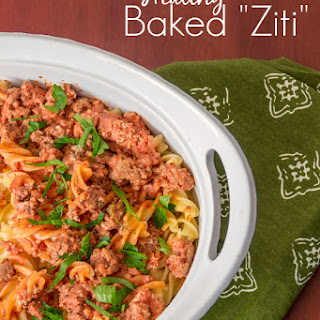 Quick & Healthy Baked Ziti.