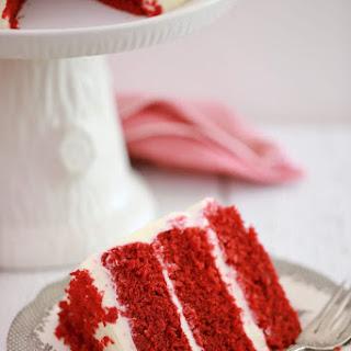 3 Layer Microwave Red Velvet Cake.