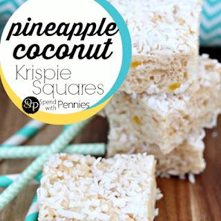 Pineapple Coconut Krispie Squares