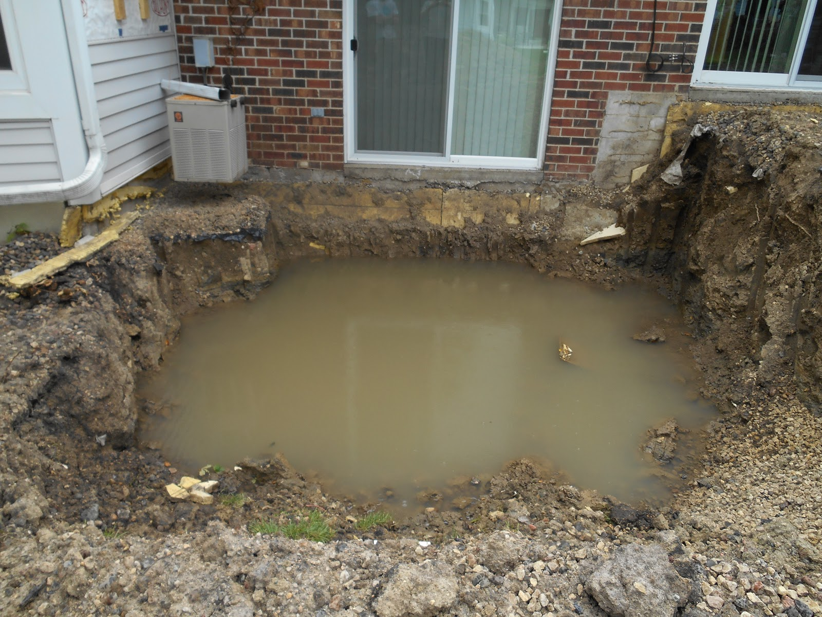 Large amounts of water found in soils surrounding foundation